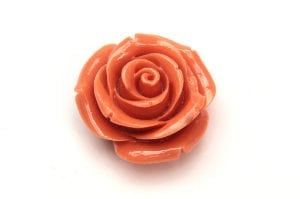 Light Coral Rose Hand Crafted Gemstone Flowers