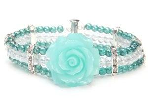 Emerald Crystal Rose Bracelet