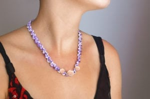 African Violet Secret Garden Necklace
