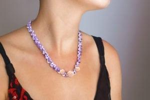 African Violet Secret Garden Necklace