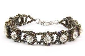 Bronze Iris Tiffany Crystal Bracelet