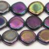 Black Rainbow Irregular Coin Peacock Beads