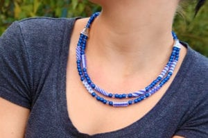 Capri Blue Florentine Carrier Tube Necklace Kit