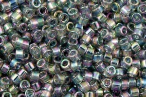 Transparent Grey Iris Delica Beads