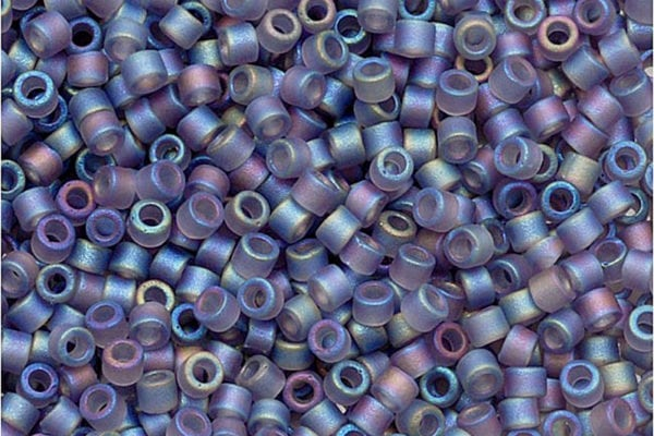 Matte Lined Light Amethyst AB Delica Beads