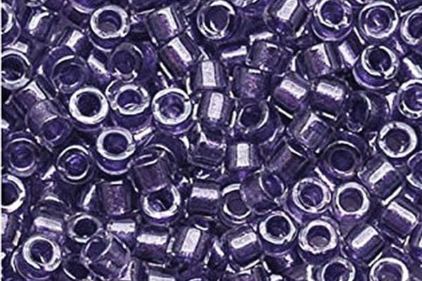 Sparkling Purple Lined Crystal Delica Beads