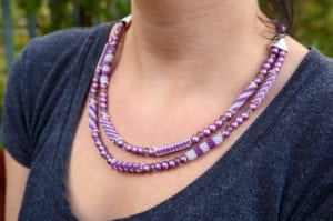 Venetian Purple Florentine Carrier Tube Necklace Kit