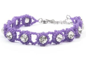 Vivid Purple Crystal Tiffany Bracelet