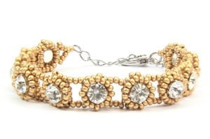 Satin Gold Tiffany Crystal Bracelet
