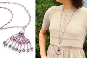 Amethyst Gatsby Tassel Necklace