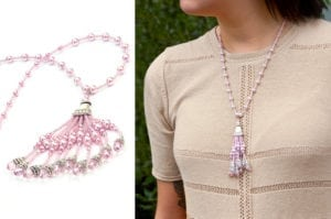 Rose Gatsby Tassel Necklace