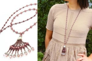 Wine Gatsby Tassel Necklace