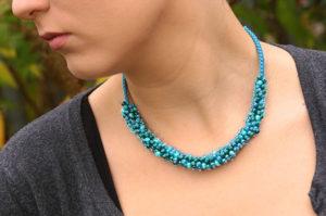 Azure Caribbean Pearl Necklace and Bracelet Kit