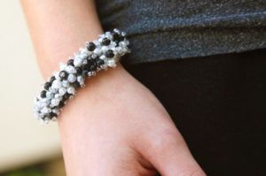 Black Pearl Caribbean Pearl Necklace and Bracelet Kit