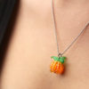 Jack-O-Lantern Pumpkin Charm Necklace and Earrings Kit