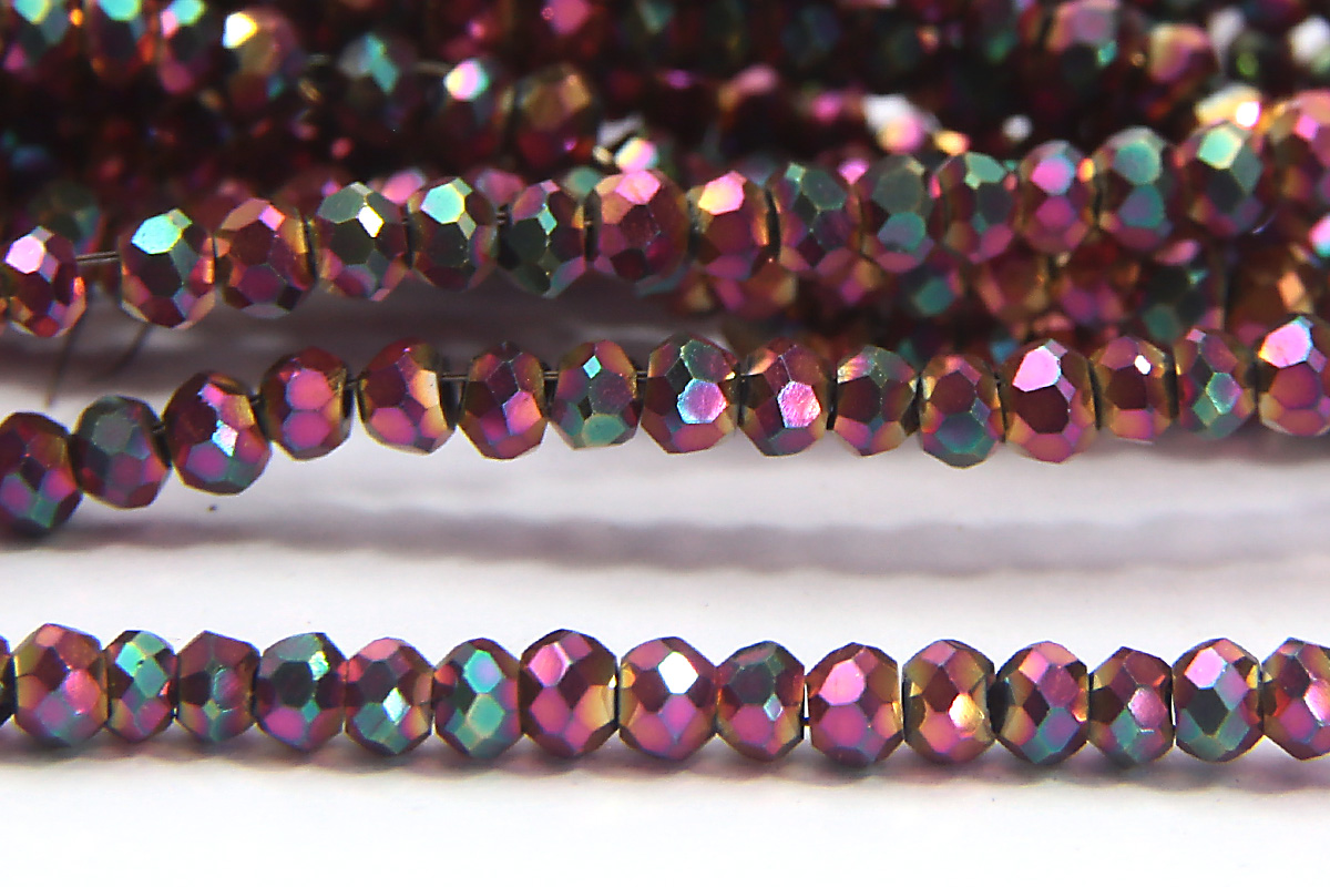 Metallic Magenta Rose Size 11 Micro Crystals