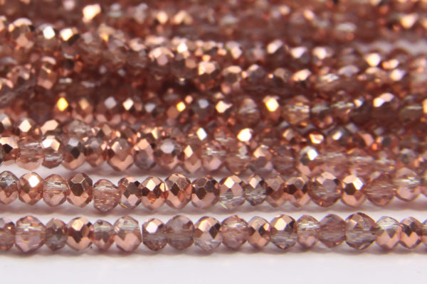 Demi Coated Rose Gold Size 11 Micro Crystals
