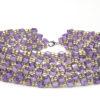 Golden Amethyst Dancing Cubes Bracelet