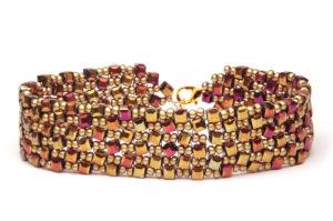 Magenta Sunset Dancing Cubes Bracelet