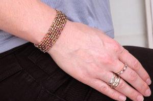 Dancing Cubes Crystal Bracelet