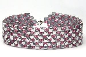 Silver Strawberry Dancing Cubes Bracelet
