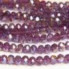 Purple AB Crystal Donuts
