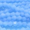 Opaque Light Blue Crystal Bicones