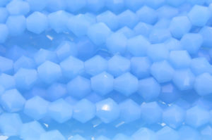 Opaque Light Blue Crystal Bicones