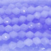 Frosted Deep China Blue Crystal Bicones