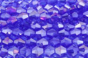 Cobalt Blue AB Crystal Bicones