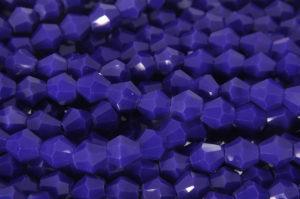 Opaque Navy Blue Crystal Bicones