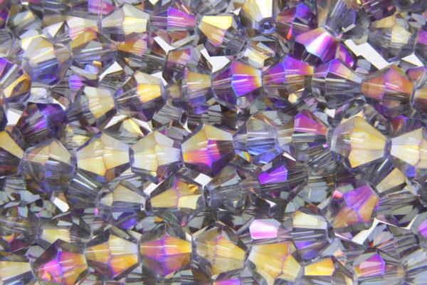 Purple Black Diamond AB Crystal Bicones