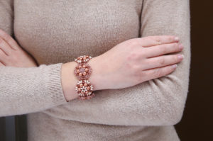 Copper Rose Brocade Bracelet Video Tutorial