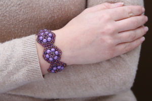 Purple Nebula Brocade Bracelet