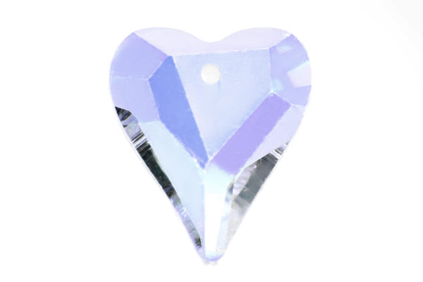 Crystal AB Heart Crystal Pendant