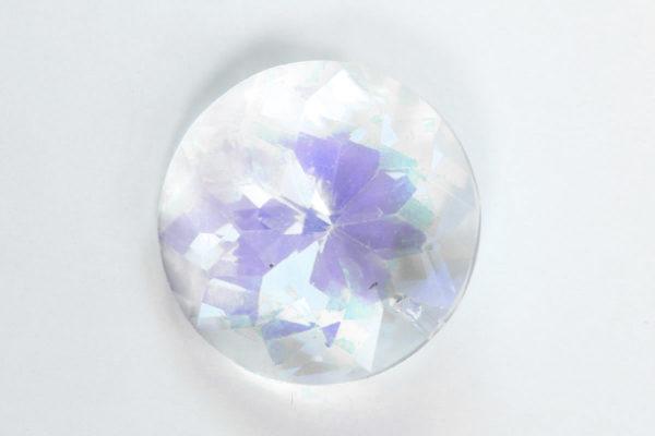 Crystal AB Coin Crystal Pendant