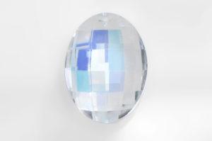 Crystal AB Oval Crystal Pendant