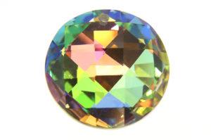 Rainbow AB Coin Crystal Pendant