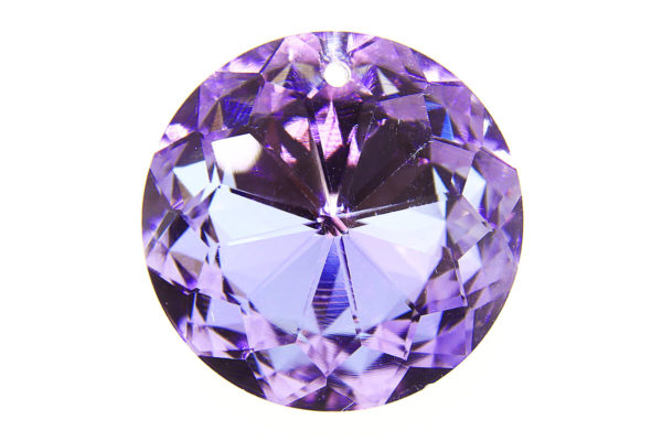 Shining Amethyst Coin Crystal Pendant