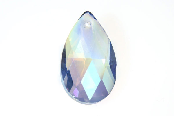 Rainbow Haze Teardrop Crystal Pendant