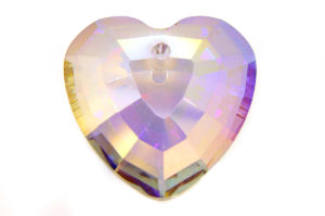 Violet Gold Heart Crystal Pendant