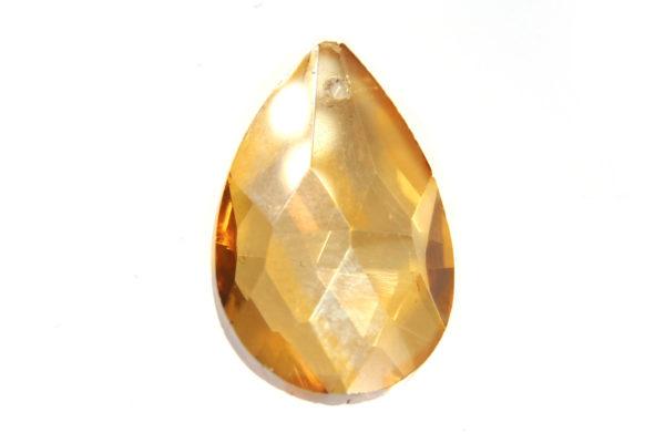 Lustre Gold Amber Teardrop Crystal Pendant