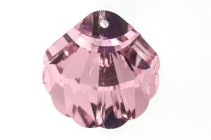 Shining Rose Shell Crystal Pendant