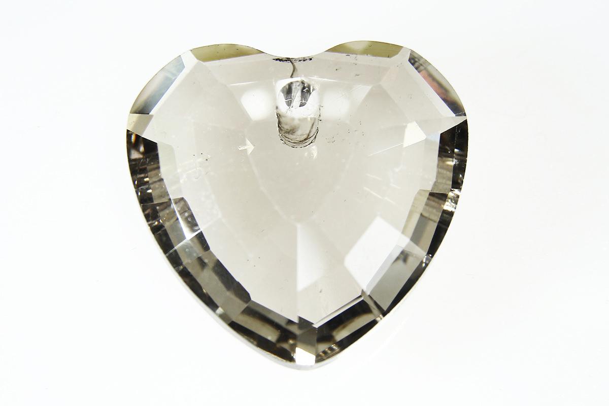 Lustre Smoke Heart Crystal Pendant