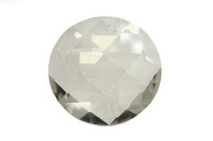 Lustre Smoke Coin Crystal Pendant