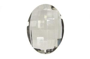 Lustre Smoke Oval Crystal Pendant