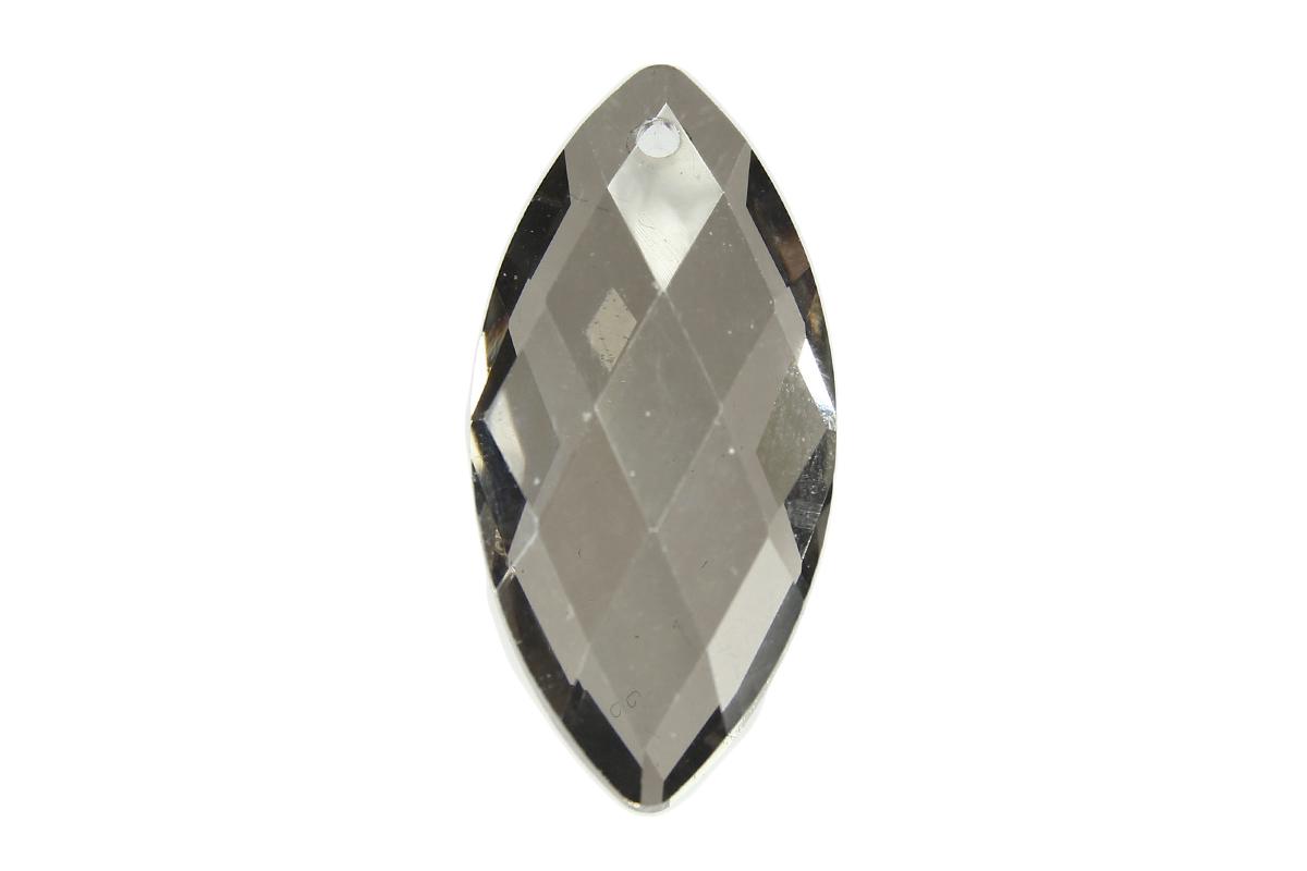 Sparkling Smoke Diamond Drop Crystal Pendant