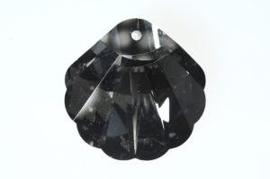 Black Diamond Shell Crystal Pendant