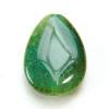 Green Cracked Agate Teardrop Focal Bead
