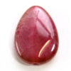 Raspberry Cracked Agate Teardrop Focal Bead